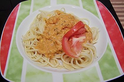 Pasta mit Knoblauch - Tomaten - Shrimps 10