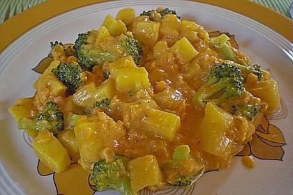 Kartoffel-Brokkoli-Curry mit Kokosmilch 8