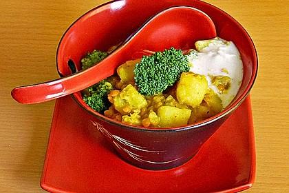 Kartoffel-Brokkoli-Curry mit Kokosmilch 3