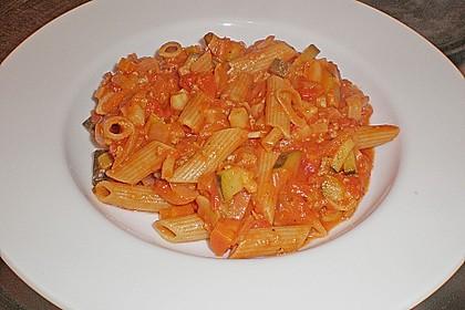 Gemüsespaghetti mit Sauce Bolognese 1