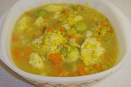 Gemüsetopf mit Grießnockerl