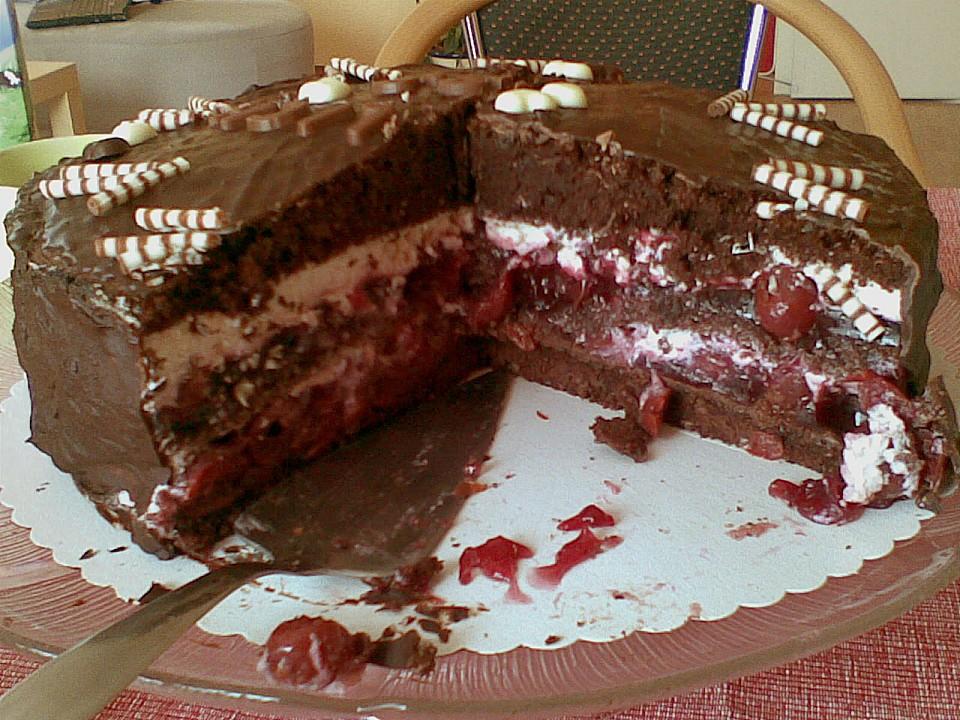 Kirsch Schoko Torte Von Silkimilki Chefkoch De