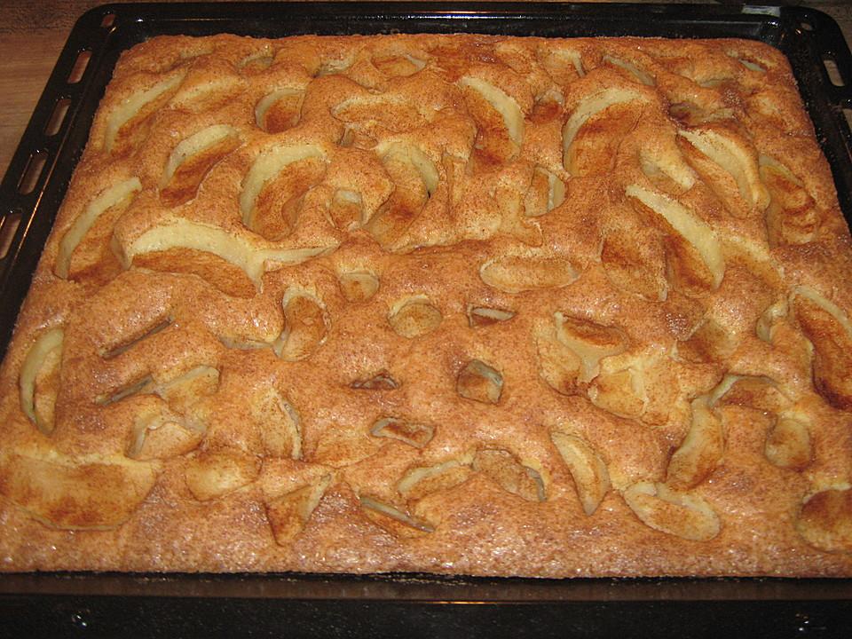 Annas Apfelkuchen Vom Blech Von Minzekatze Chefkoch De