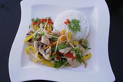 Gebratenes Gemüse mit Hähnchen - Pad Pak Gai 1