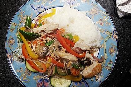 Gebratenes Gemüse mit Hähnchen - Pad Pak Gai 4