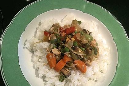 Gebratenes Gemüse mit Hähnchen - Pad Pak Gai 8