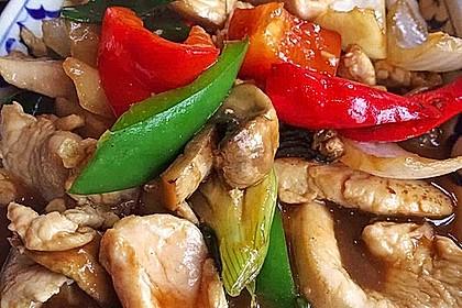 Gebratenes Gemüse mit Hähnchen - Pad Pak Gai