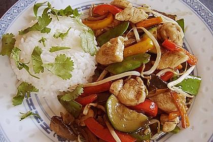 Gebratenes Gemüse mit Hähnchen - Pad Pak Gai 2