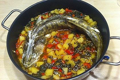 Zander auf Kartoffel - Paprika - Gemüse 2
