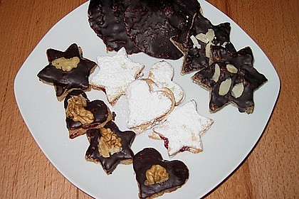 Lebkuchen mit mürben Hörnchen