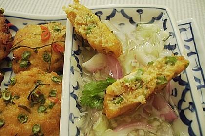 Thailändische Fischplätzchen mit Gurken - Ingwer - Relish 2