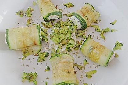 Auberginenröllchen mit Frischkäse 8