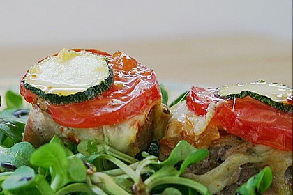 Überbackene Schweinefiletmedaillons mit Feldsalat 1