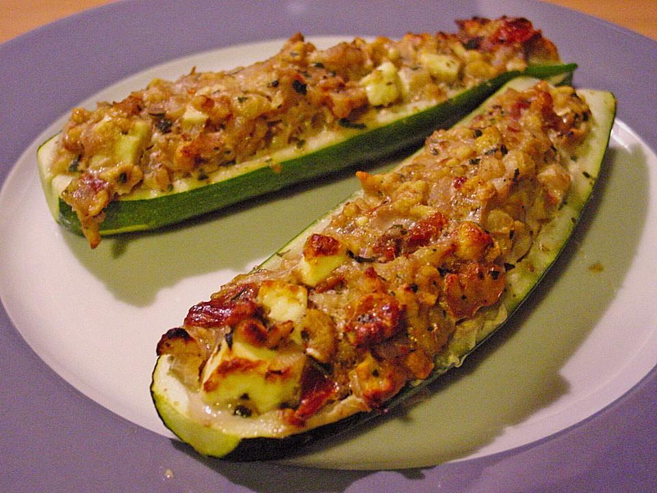 Gefüllte zucchini rezept vegetarisch