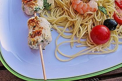 Italienischer Spaghettisalat mit Mozzarella 4