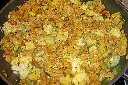 Zucchini-Sojahack Pfanne