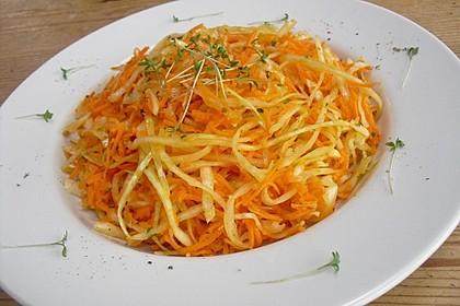 Möhren - Weißkraut - Salat 2