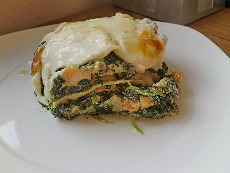 Lachs Garnelen Spinat Lasagne Von Angie76 Chefkoch