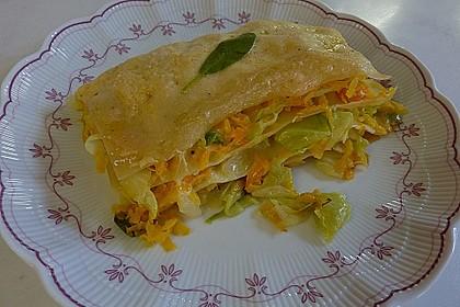 Wunderbare Spitzkohl - Möhren - Lasagne 5