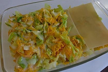 Wunderbare Spitzkohl - Möhren - Lasagne 30