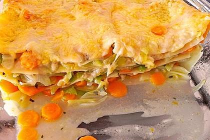 Wunderbare Spitzkohl - Möhren - Lasagne 11