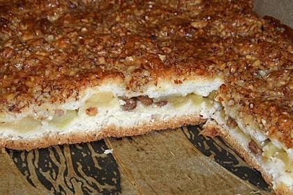 Apfelkuchen mit Mandelkruste (Bild)