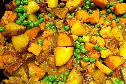Kartoffel-Erbsen Curry