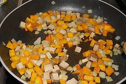 Wirsingrouladen mit Kürbis - Tofu - Füllung 3