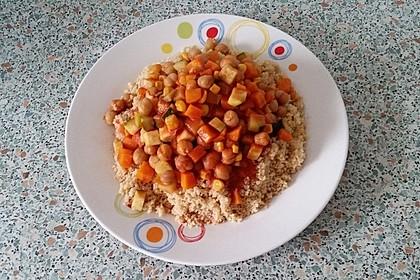 Couscous mit würzigem Kichererbsen-Stew 3