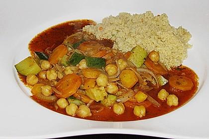 Couscous mit würzigem Kichererbsen-Stew 2