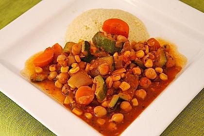 Couscous mit würzigem Kichererbsen-Stew 1