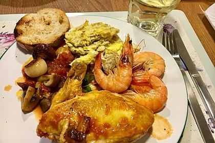 Pollo alla Marengo - Geflügelragout mit Tomaten und Rührei