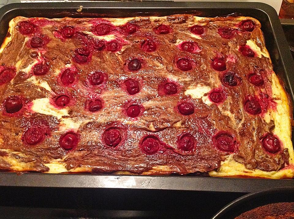Kase Marmor Kuchen Mit Kirschen Von Sannys Chefkoch De