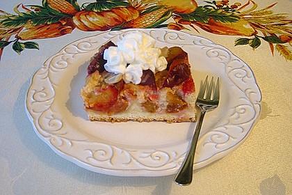 Zwetschgenkuchen mit Vanille - Zimt Guss