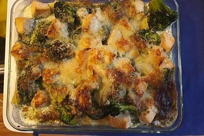 Nudel - Lachs - Auflauf mit Brokkoli 11