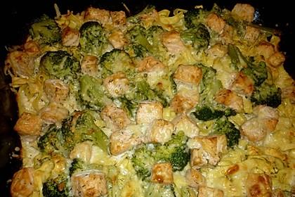Nudel - Lachs - Auflauf mit Brokkoli 6