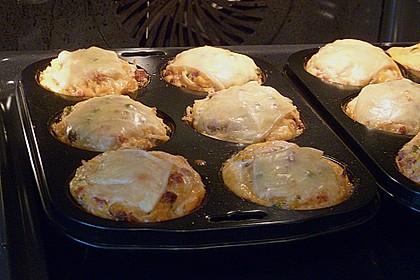 Nudel - Schinken - Muffins mit Gemüse 1