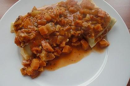 Maultaschen mit Lauch - Tomaten - Gemüse 11