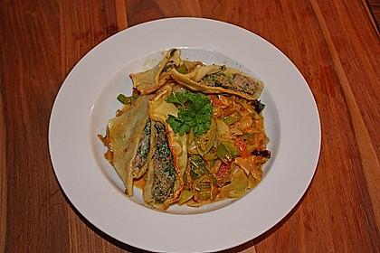 Maultaschen mit Lauch - Tomaten - Gemüse 1