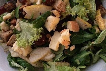 Gourmet Feldsalat mit Trauben, Schinken und Nüssen 7