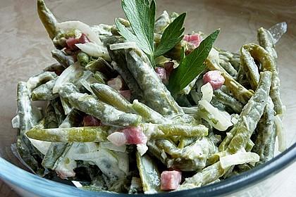 Bohnensalat mit saurer Sahne und Speck 1