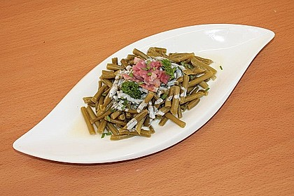 Bohnensalat mit saurer Sahne und Speck 10