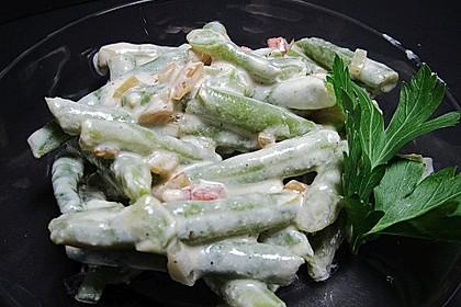 Bohnensalat mit saurer Sahne und Speck 5