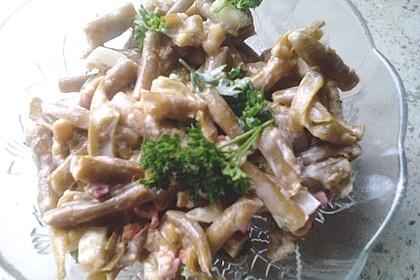 Bohnensalat mit saurer Sahne und Speck 8