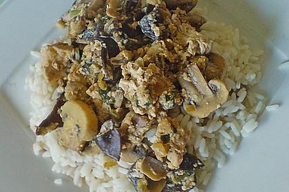 Reis mit Ei und Shiitake - Pilzen 3
