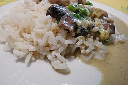 Reis mit Ei und Shiitake - Pilzen 2
