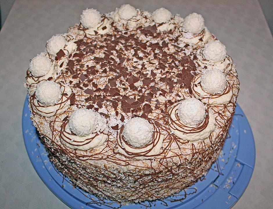 Kokos Raffaello Torte Mit Nougat Und Marzipan Von Sibu79