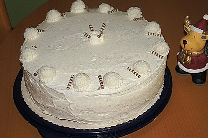 Kokos - Raffaello - Torte mit Nougat und Marzipan (Bild)