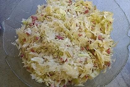Bayrischer Krautsalat mit Speck 16