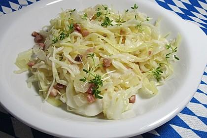 Bayrischer Krautsalat mit Speck 1